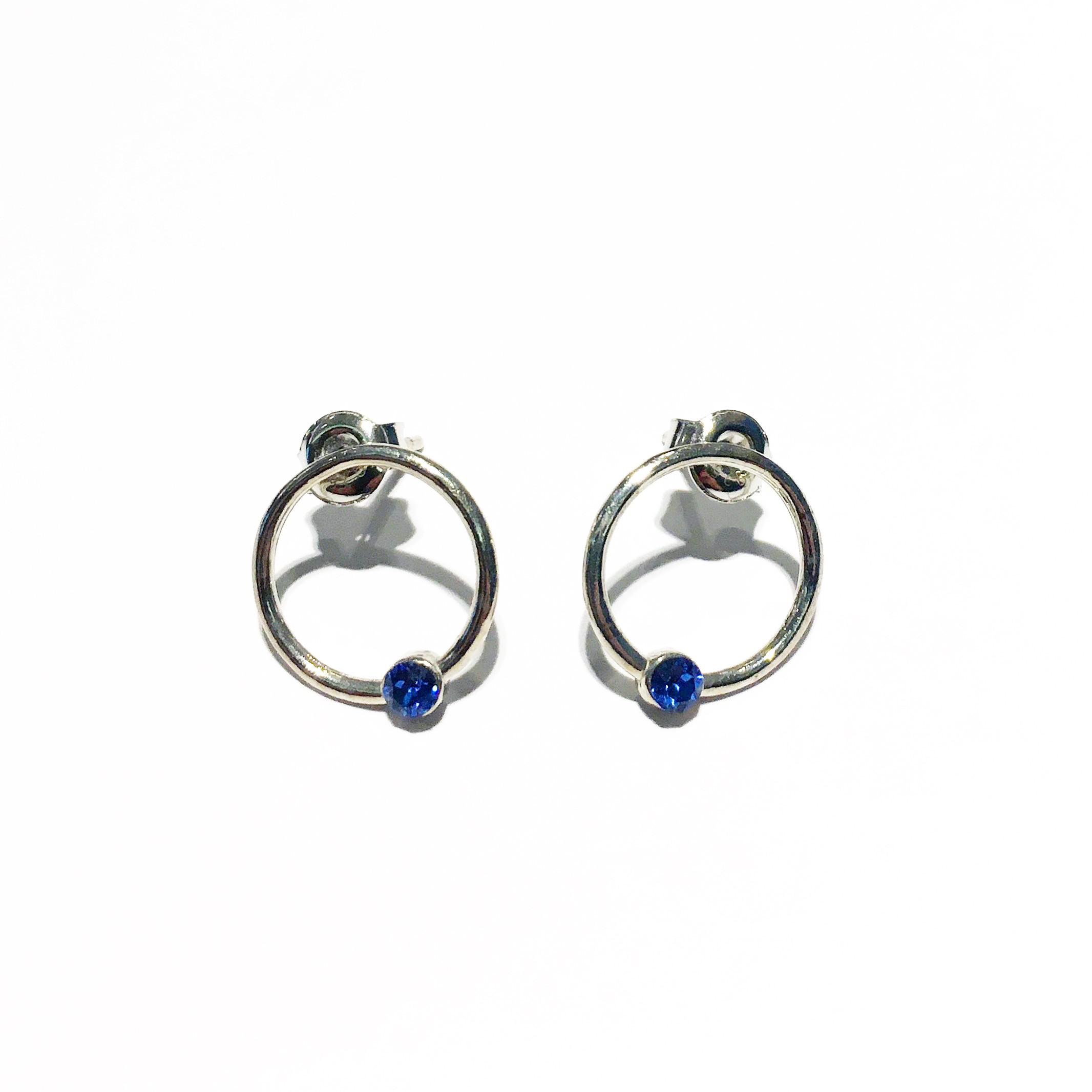 Обици - Blue Mini Hoops