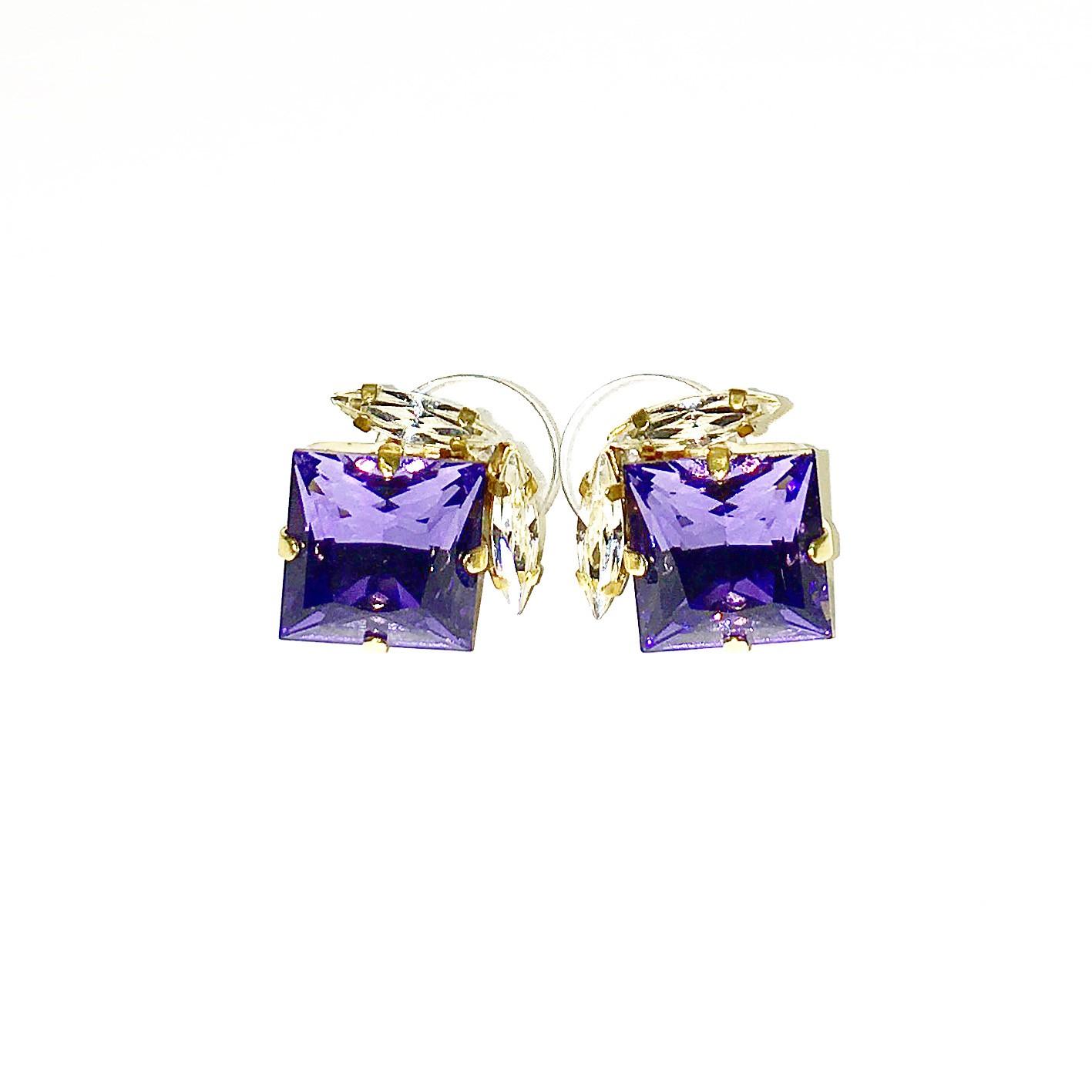 Обици - Crystal Tanzanite