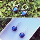 Обици - Swarovski Blue Pearls