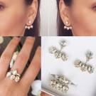 Комплект обици и пръстен - Swarovski Crystal Queen