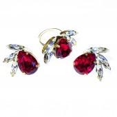 Комплект обици и пръстен - Crystal Queen